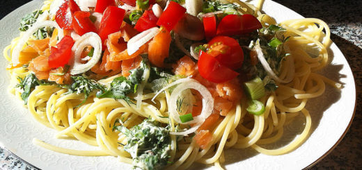 Spaghetti mit Lachs und Kräutern | Rezept