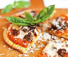 Pizzafladen aus Kokosmehl | Rezept