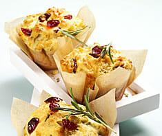 Pikante Cranberry Muffins | Rezept