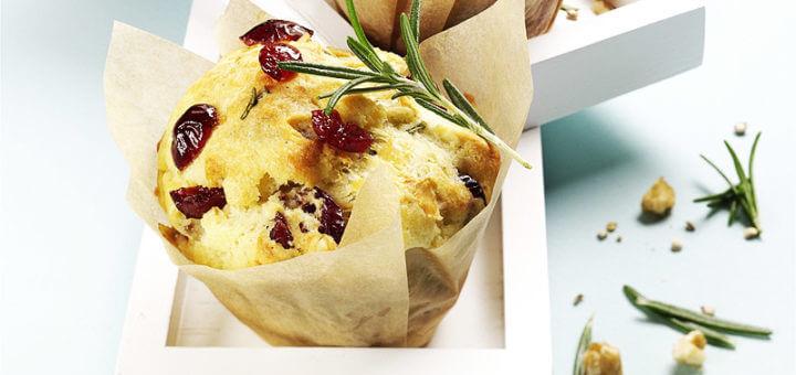 Pikanter Cranberry Muffin | Rezept