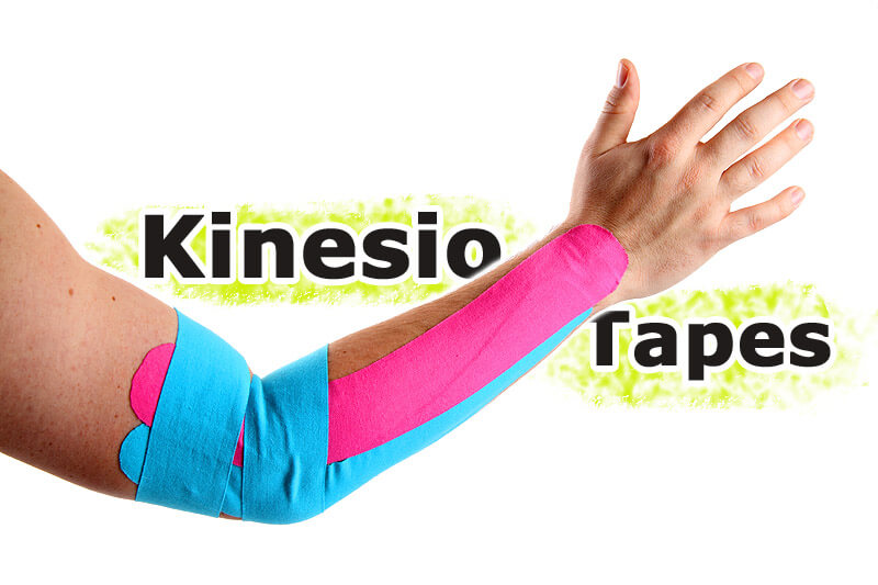 Tapeverband mit Kinesio Tapes