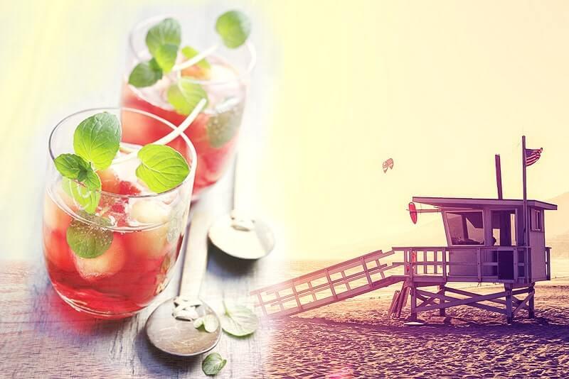 Alkohofreie Melonenbowle   Rezept