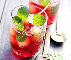 Alkoholfreie Melonenbowle