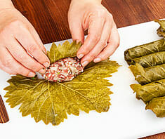 Gefüllte Weinblätter mit Fleisch
