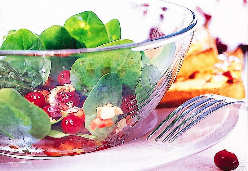 Spinatsalat mit Cranberries | Rezept