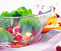 Spinatsalat mit Cranberries