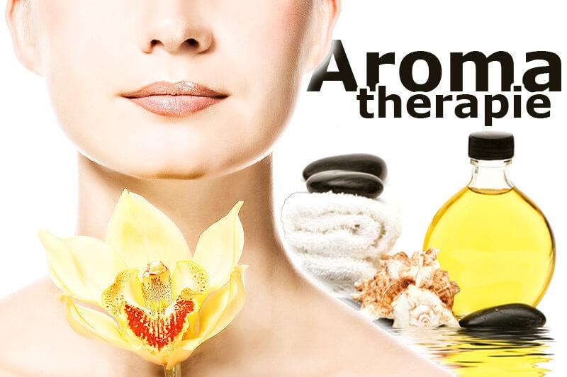 Aromatherapie - Anwendung bei einer jungen Frau