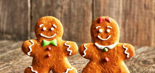 Weihnachtliche Lebkuchenkekse