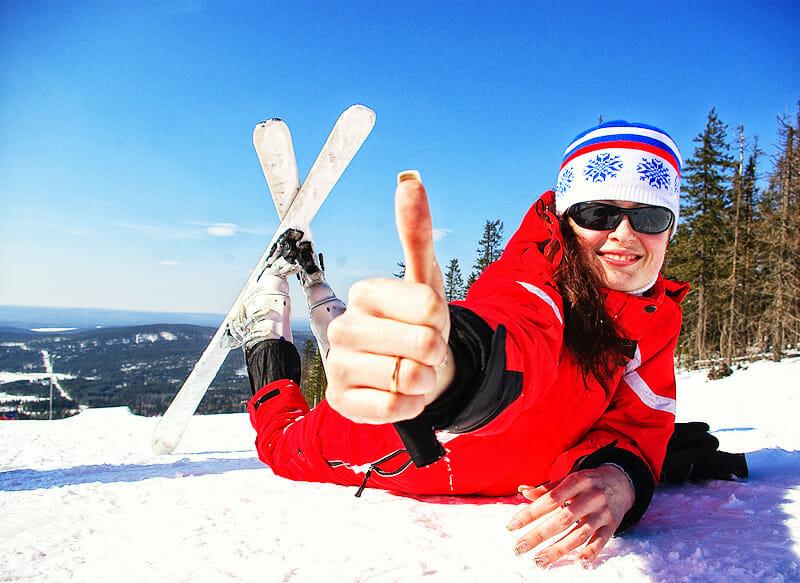 Skifahrerin - Fitness Tipps für die Skipiste