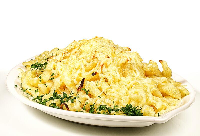 Überbackene Käsespätzle