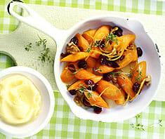 Zitronen-Karotten mit Kartoffelpüree
