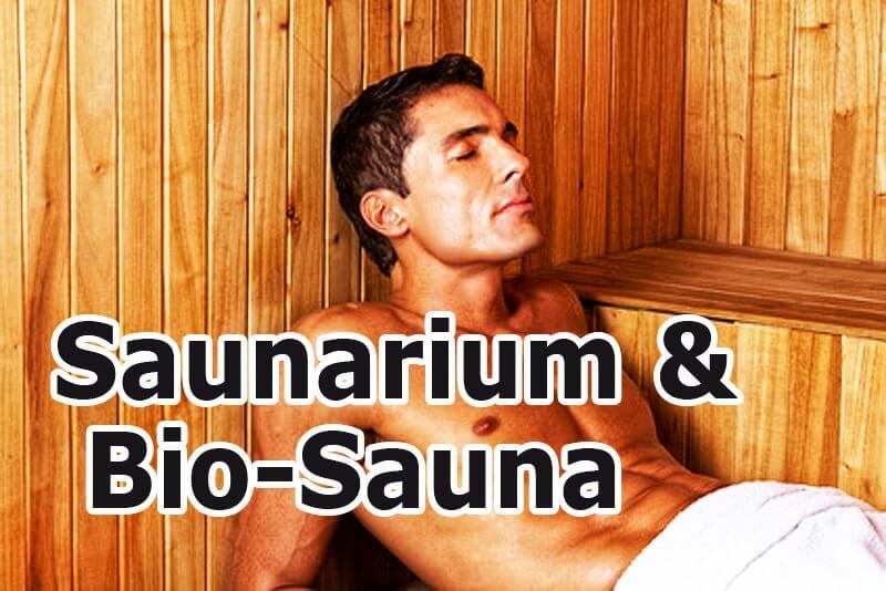 Saunarium - Mann in der Bio-Sauna