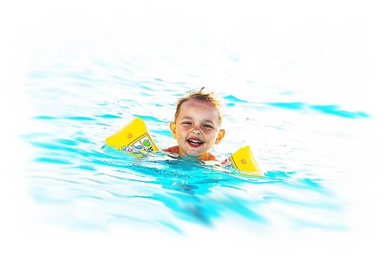 Badeunfällen mit Kindern