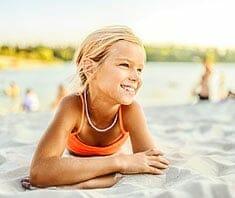Kinder: Faulenzen in den Ferien und zu Hause