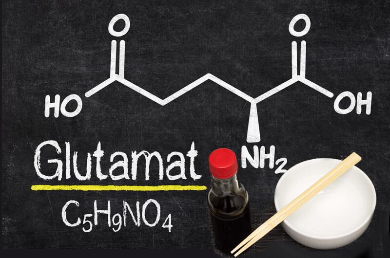 Glutamat - chemische Formel