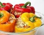 Gefüllte Paprika vegetarisch   Rezept