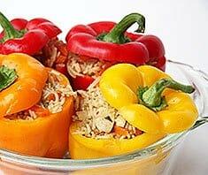 Gefüllte Paprika vegetarisch | Rezept