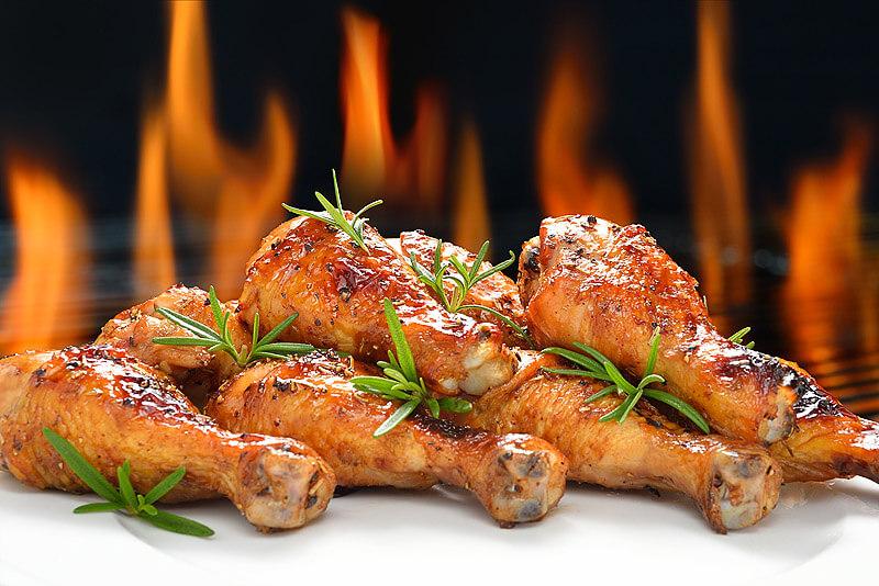 gegrillte Chicken Drumsticks