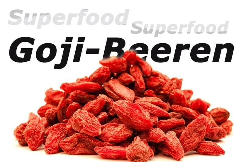 Goji-Beeren oder Bocksdornfrüchte