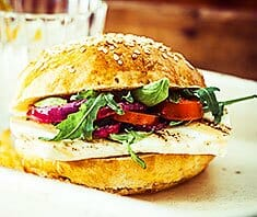 Halloumi Burger vom Grill | Rezept