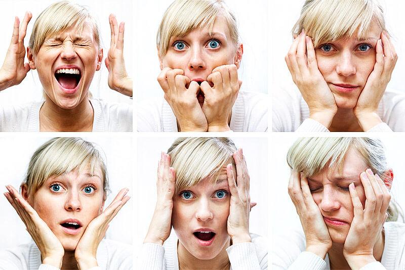 Pearl Index & Verhütung: Gesichter der Überraschung und Verzweiflung
