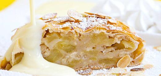 Altwiener Apfelstrudel mit Vanillesauce | Rezept