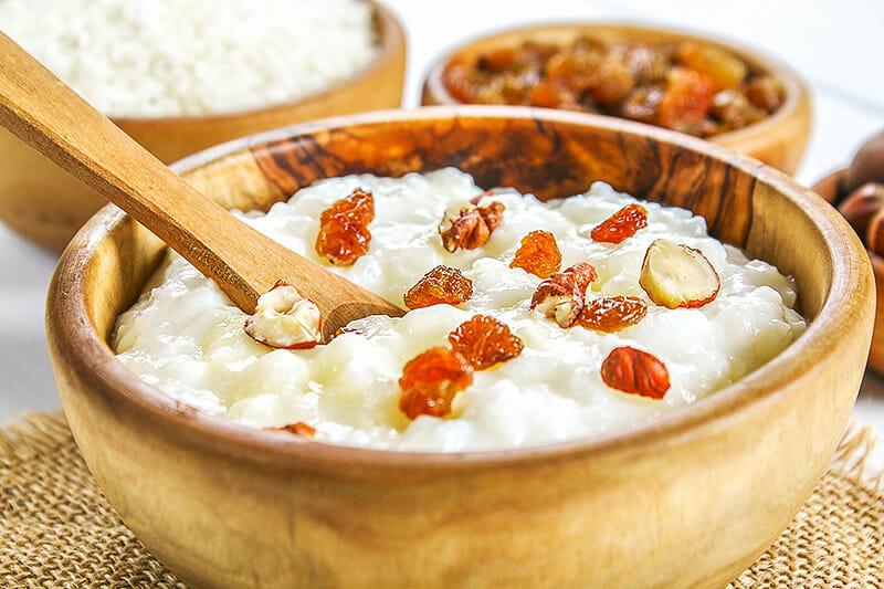 Reis Congee - ein Reisbrei gibt Energie