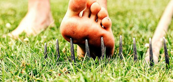 Die häufigsten Gartenunfälle