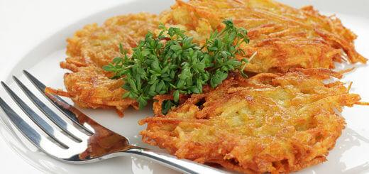 Kartoffelpuffer mit Knoblauch | Rezept