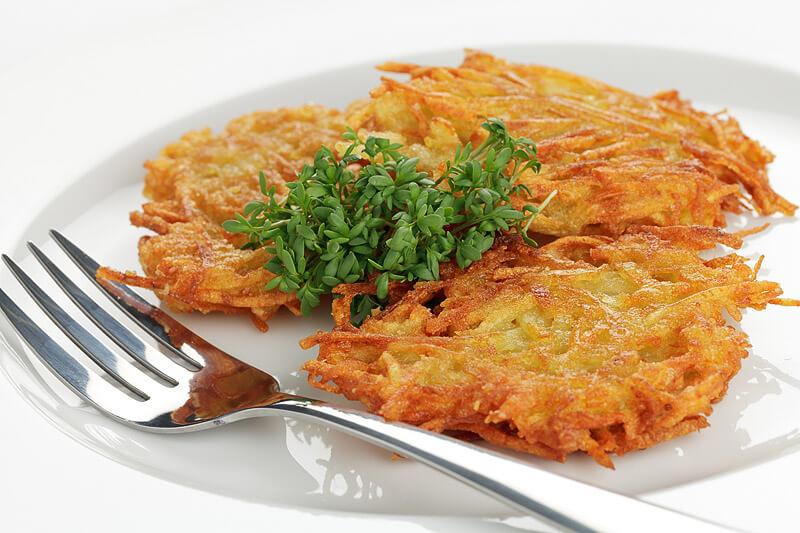 Kartoffelpuffer mit Knoblauch   Rezept