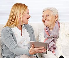 Seniorenhandy oder Tablet