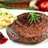 Hirschsteak mit Preiselbeeren & Spätzle -Weihnachtsessen