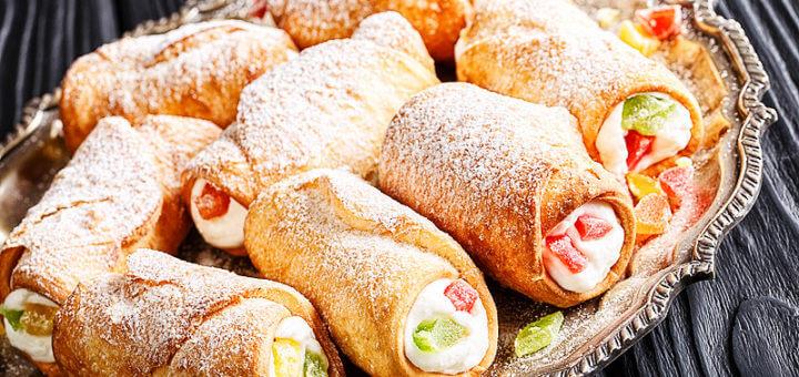 Sizilianische Cannoli mit Ricotta | Rezept