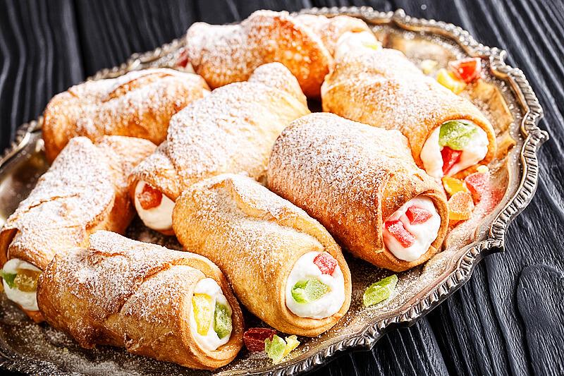 Sizilianische Cannoli mit Ricotta