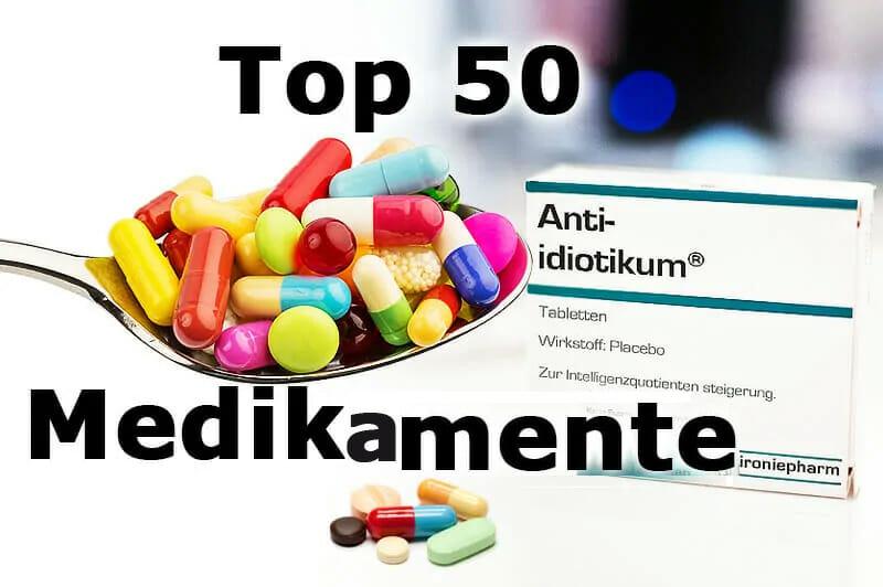 Top 50 – die wichtigsten Medikamente