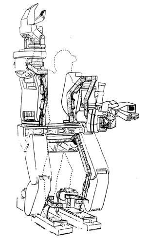 Exoskelett Skizze