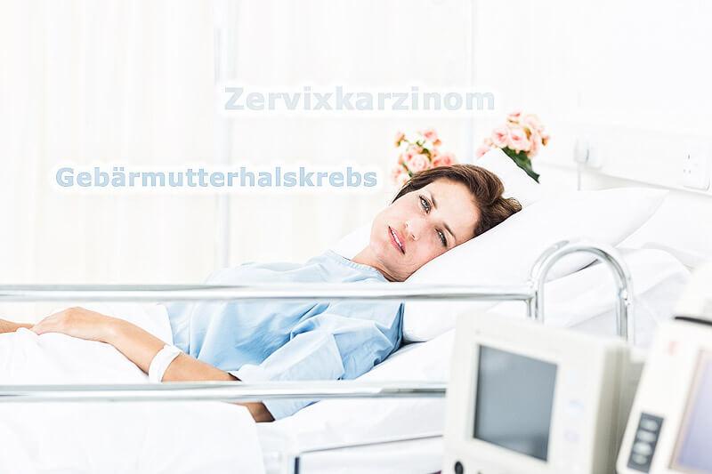 Gebärmutterhalskrebs - Frau im Spital
