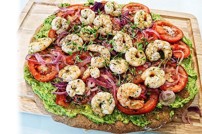 Vollkorn-Avocado-Pizza | Rezept