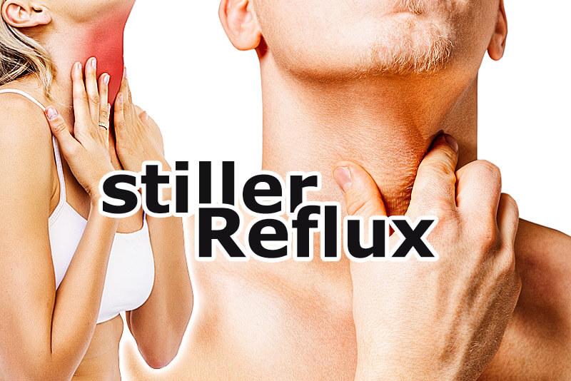 Stiller Reflux: Mann und Frau mit Halsbeschwerden