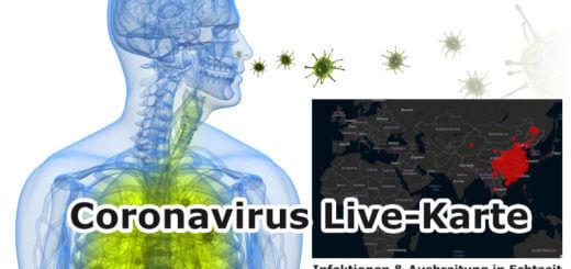 Coronavirus: Mittels Weltkarte Infektionen & Ausbreitung live verfolgen