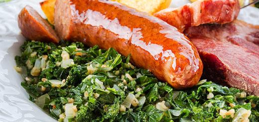 Grünkohl mit Geselchtem und Burenwurst | Rezept