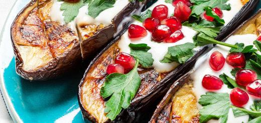 Gebratene Melanzani mit Granatapfel | Rezept