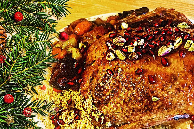 Orientalisch gefüllte Weihnachtsente | Rezept