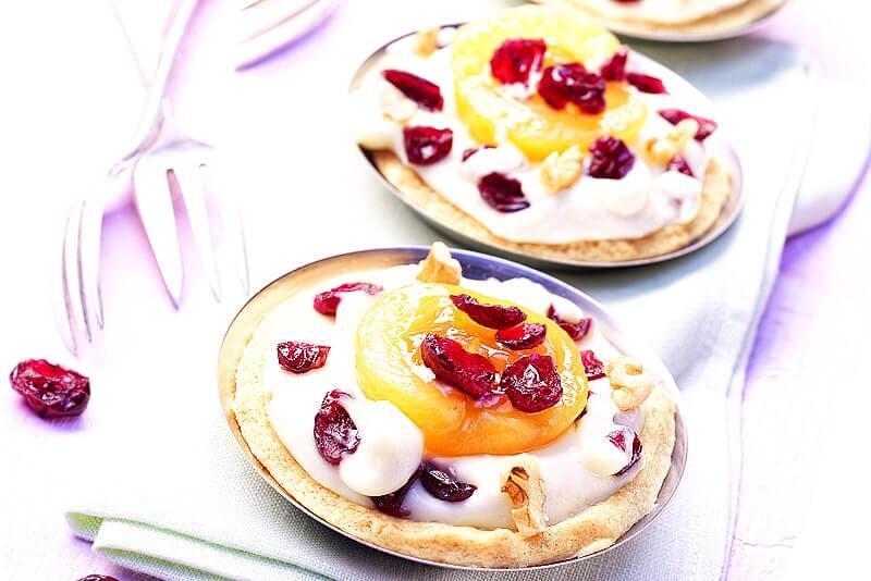 Cranberry- Marillen-Tartes | Rezept