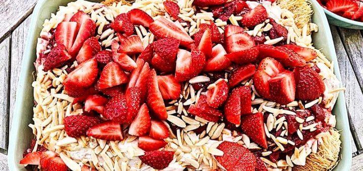 Engelshaar mit Erdbeeren | Rezept