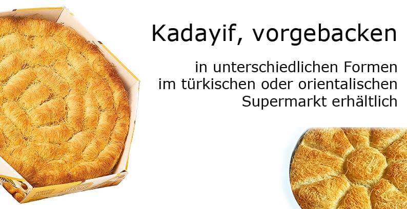 Kadayif vorgebacken - Formen