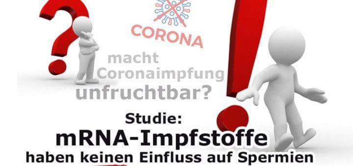 Corona-Impfung: Kein Einfluss auf Spermien