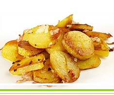 Kartoffel-Sticks mit Bolognese
