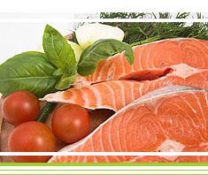 Gemüse- Paella mit Lachs