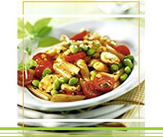 Pasta Salat mit Sojabohnen